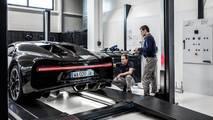 Bugatti Chiron, telemetria