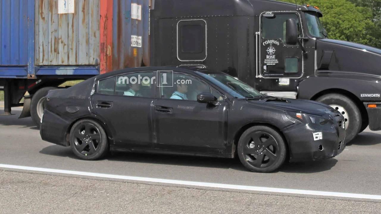 Next Gen Subaru Legacy Spied Under Heavy Camouflage Fuel Filter Location Spy Shots