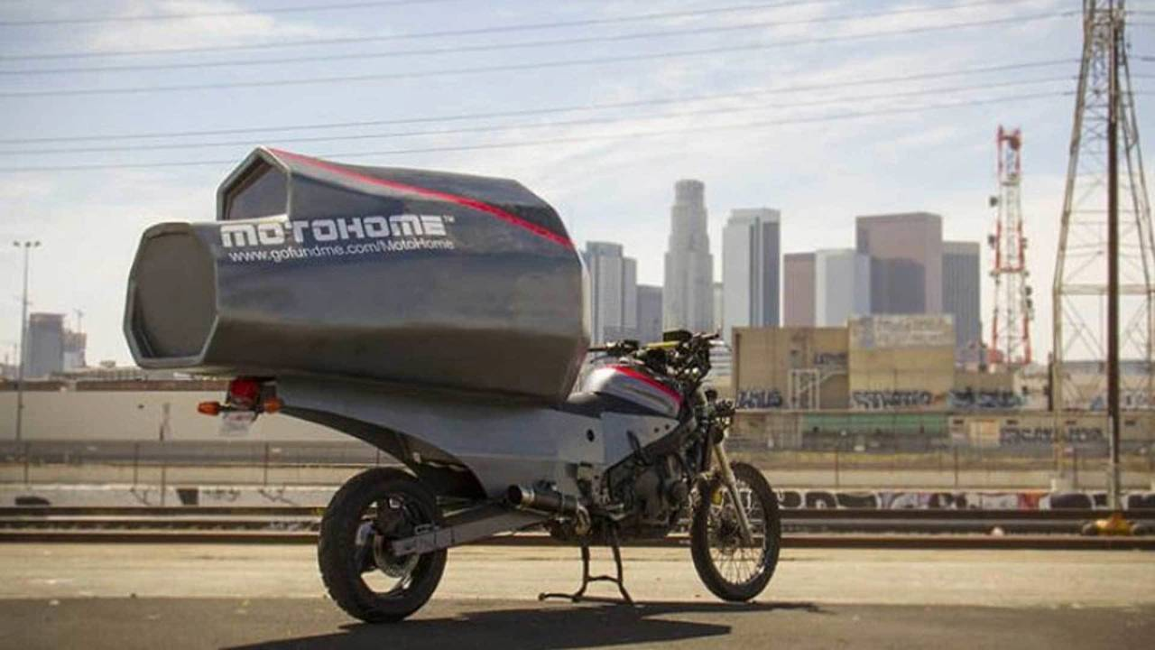 Meet MotoHome - the Bolt-On Motorcycle Camper