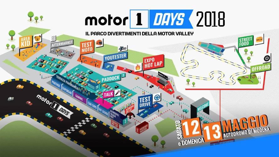 Motor1Days 2018, il programma della festa dei motori!