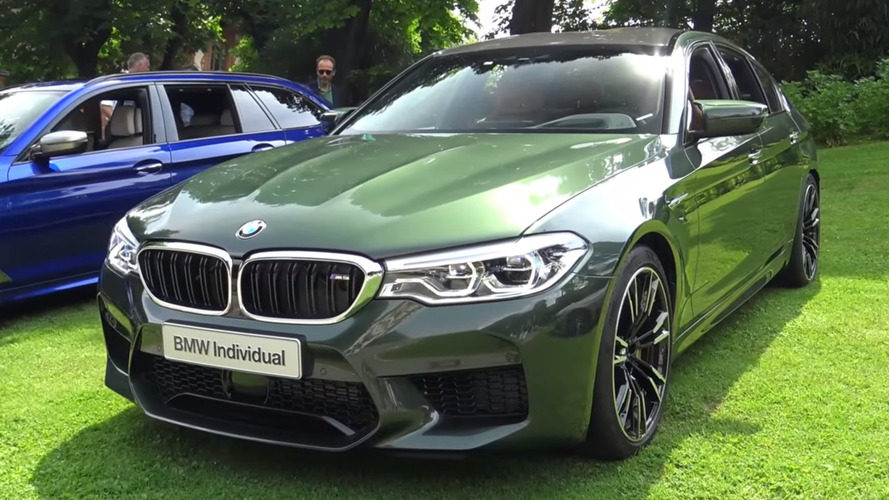M5 Stands Out Among Super Sedans With Green BMW Individual Paint