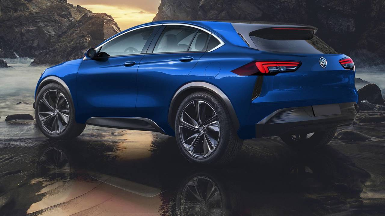 Buick Enspire concept rendered as a production model