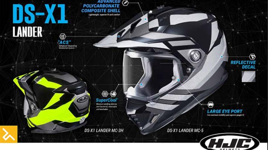 New HJC DS-X1 Dual-Sport Helmet
