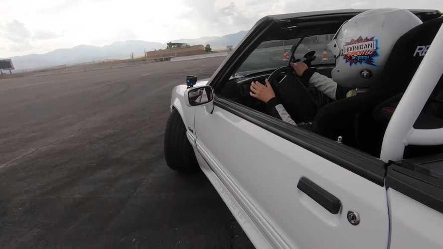Ken Block's 14-Year-Old Daughter Goes Full-Send In Mustang Drift Car