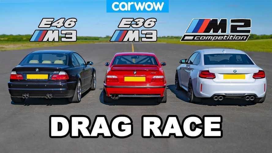 Gyorsulási verseny: BMW E46 M3 vs. E36 M3 vs. M2 Competition