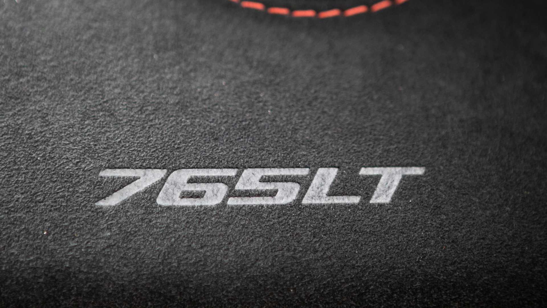 2021 McLaren 765LT dash stitch