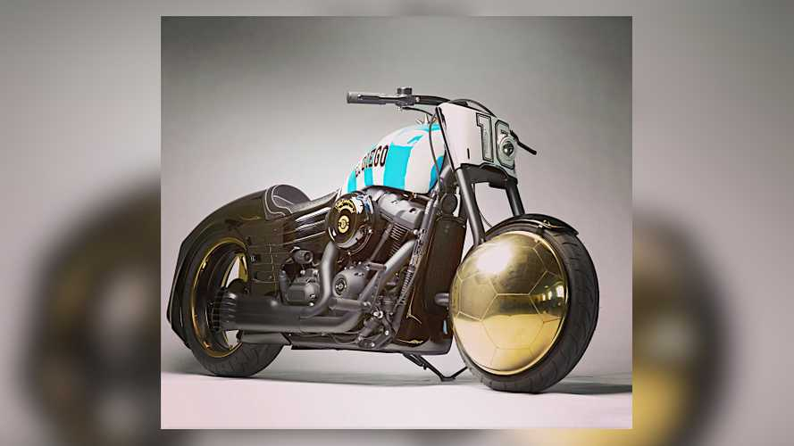 This Custom Harley-Davidson Fat Bob Was Built For Diego Maradona