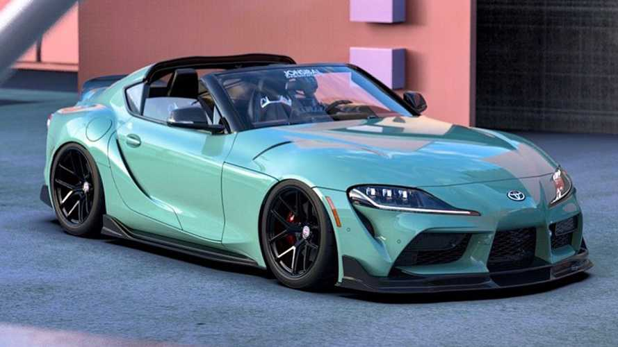 Toyota GR Supra Sport Top Edition rendered by talented artist