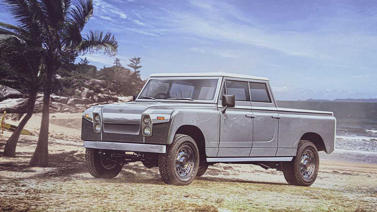 Rivian R1T if it was designed in the 1960s