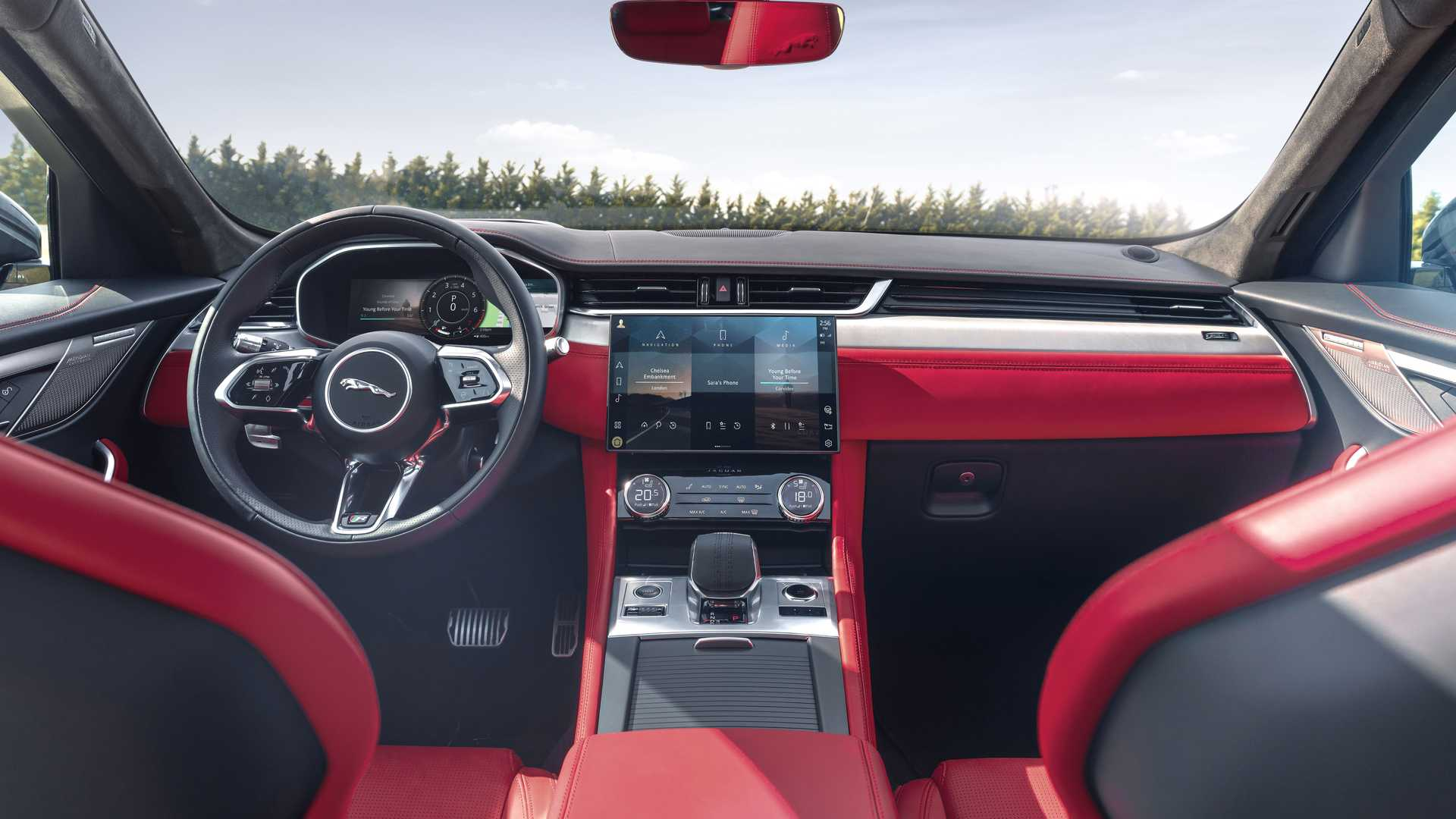 Jaguar F-Pace (2021): Facelift, neues Interieur und ...