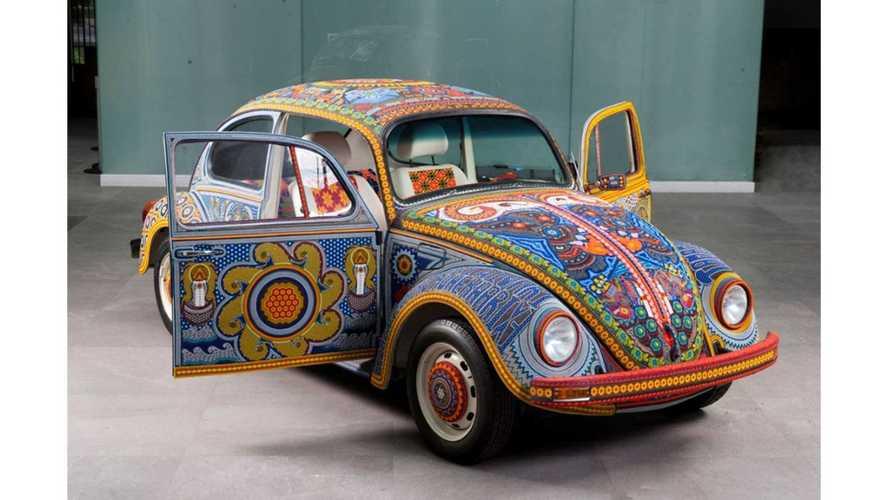 Este Volkswagen Beetle clásico tiene un diseño deslumbrante