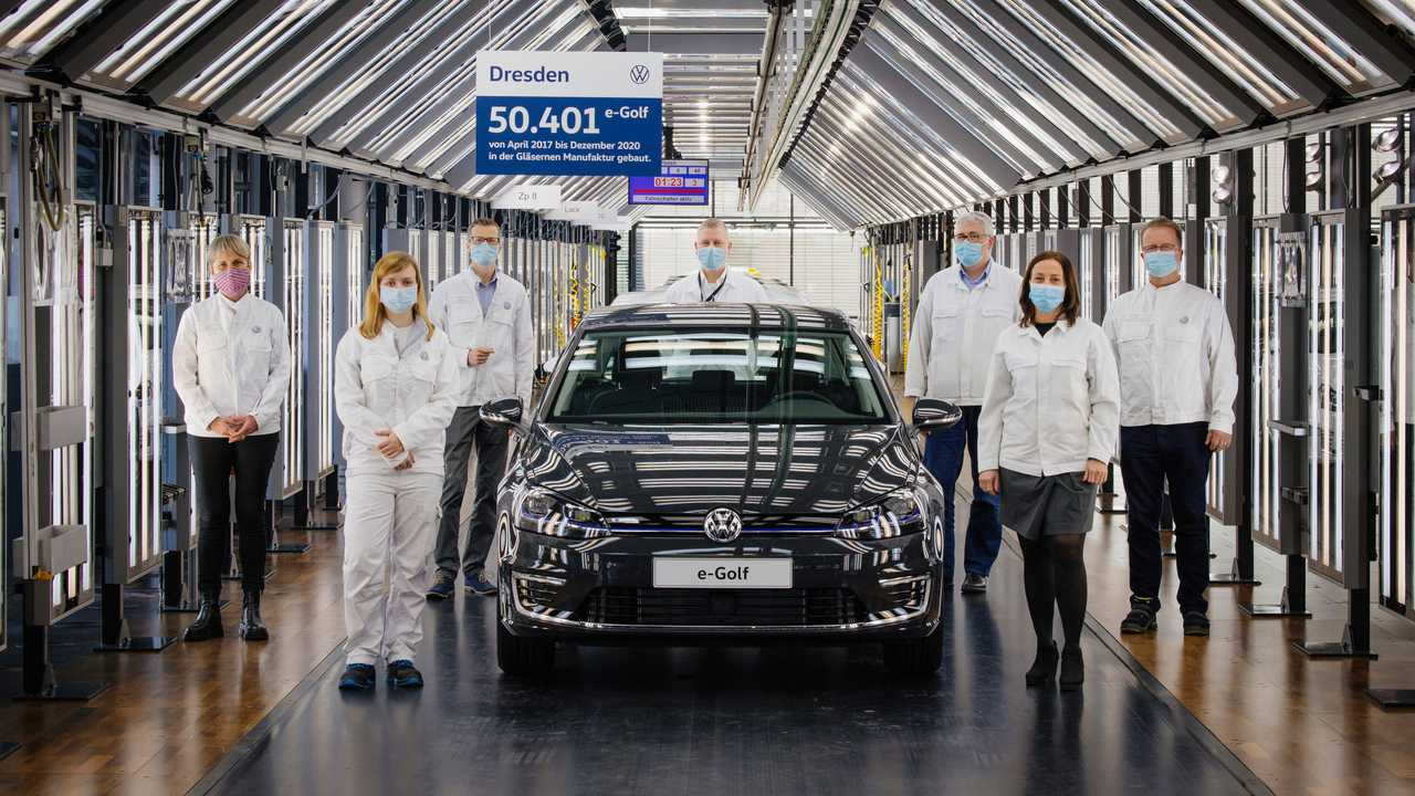 Auslauf der Produktion des e-Golf in Dresden