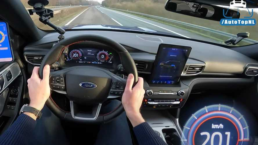 Ford Explorer Plug-In Hybrid Top Speed Tested On Autobahn