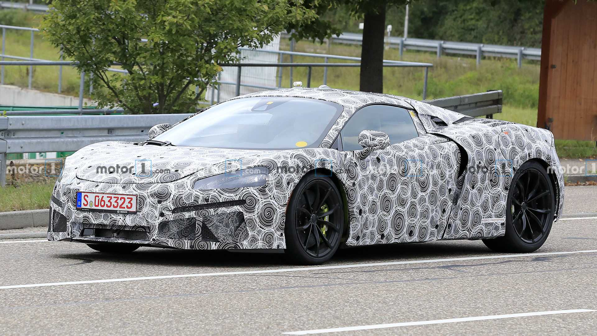 McLaren Sports Series Hybrid Side Spy Photo