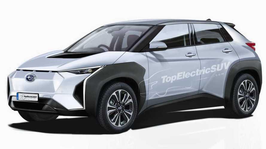 Subaru Evoltis als Rendering: Elektro-SUV könnte gegen VW ID.4 antreten