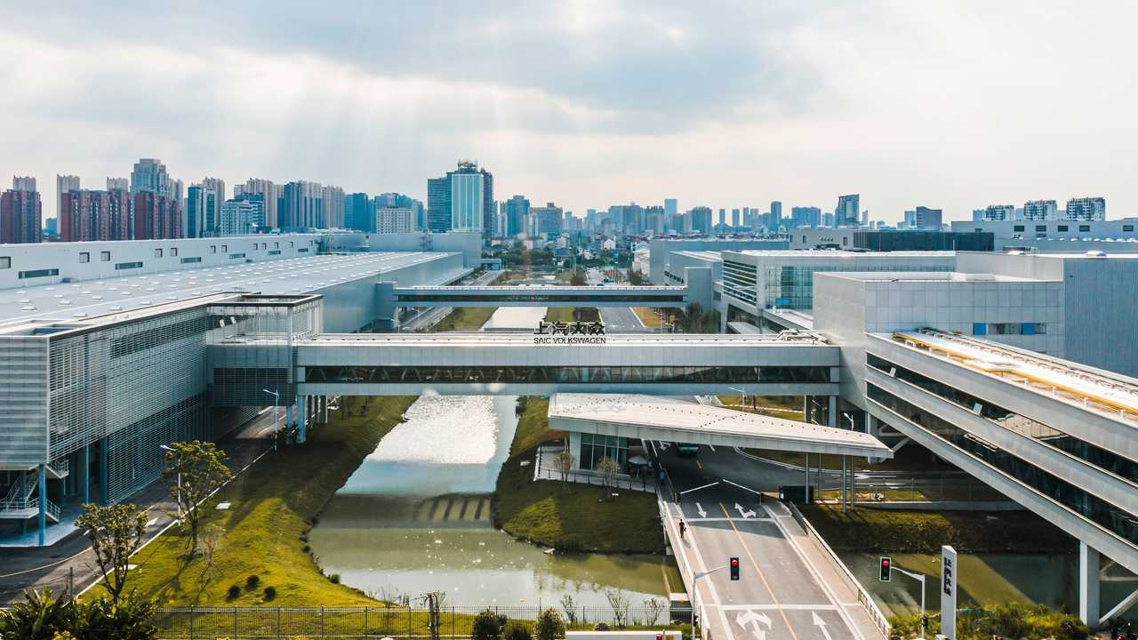 SAIC Volkswagen electric-only plant in Anting, China