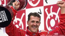 Race winner and 2000 World Champion Michael Schumacher, Ferrari