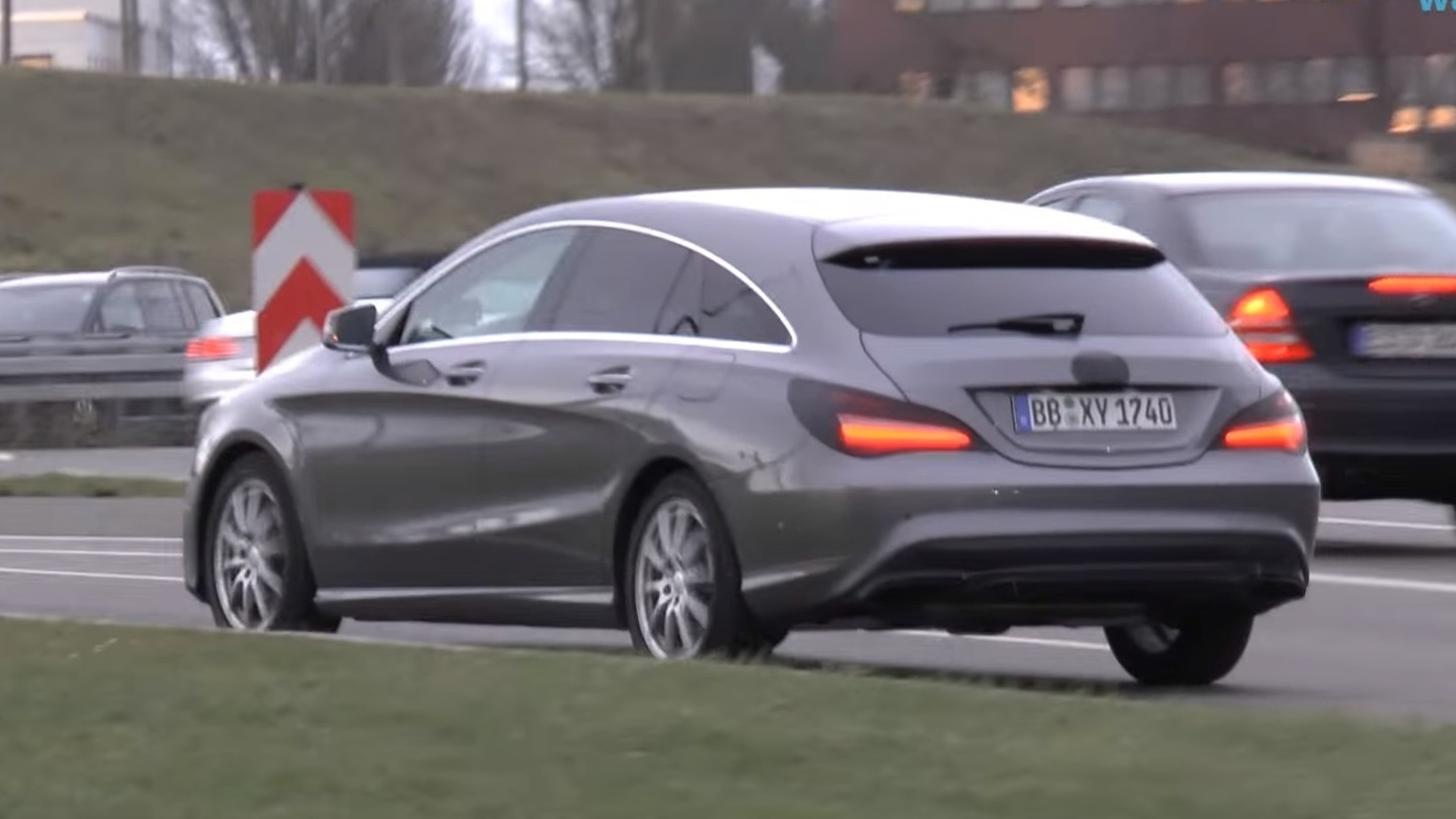 Barely Disguised Mercedes Cla Cla Shooting Brake Spied Videos