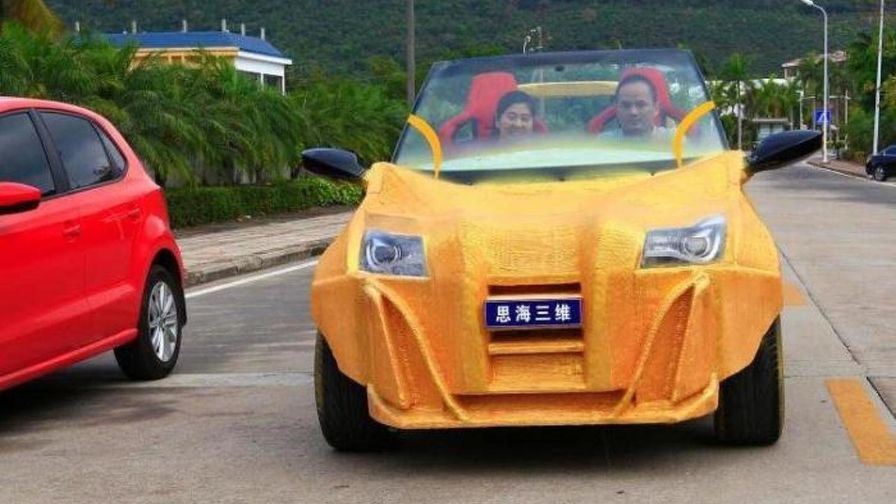 China's first 3D printed car