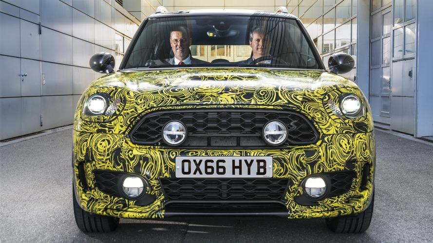 2017 Mini Countryman hybrid teased