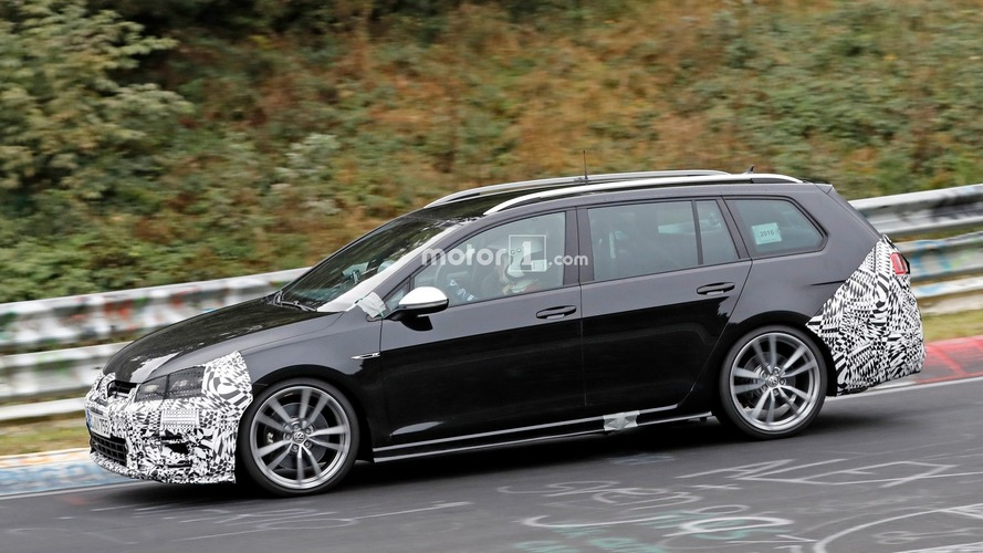 VW Golf R Variant facelift hides new bumper at the Nurburgring
