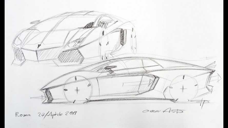 """""""Come"""" si disegna una Lamborghini Aventador"""