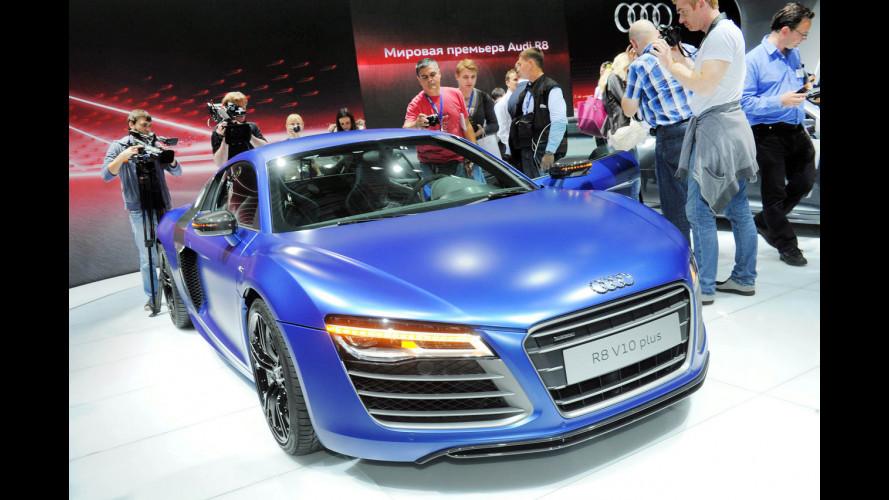 Svelata a Mosca l'Audi R8 restyling