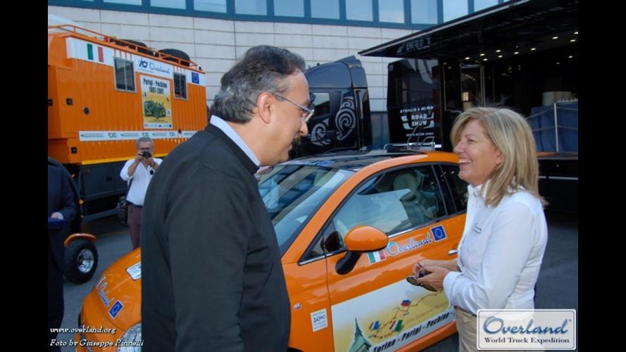 Fiat 500 con Overland dall'Europa all'Asia