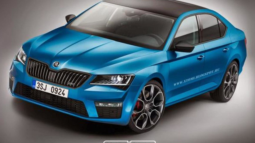 2015 Skoda Superb rendered in Combi, Scout and RS flavors