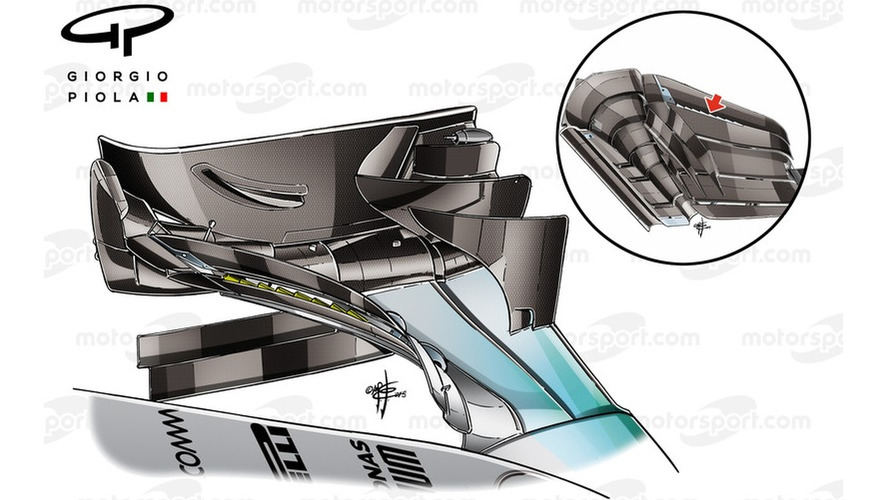 Mercedes W06 front wing Sochi & front wing bottom view