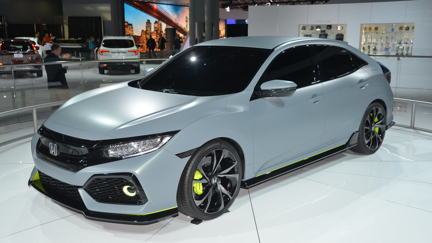 Honda Civic Hatchback prototype hits New York