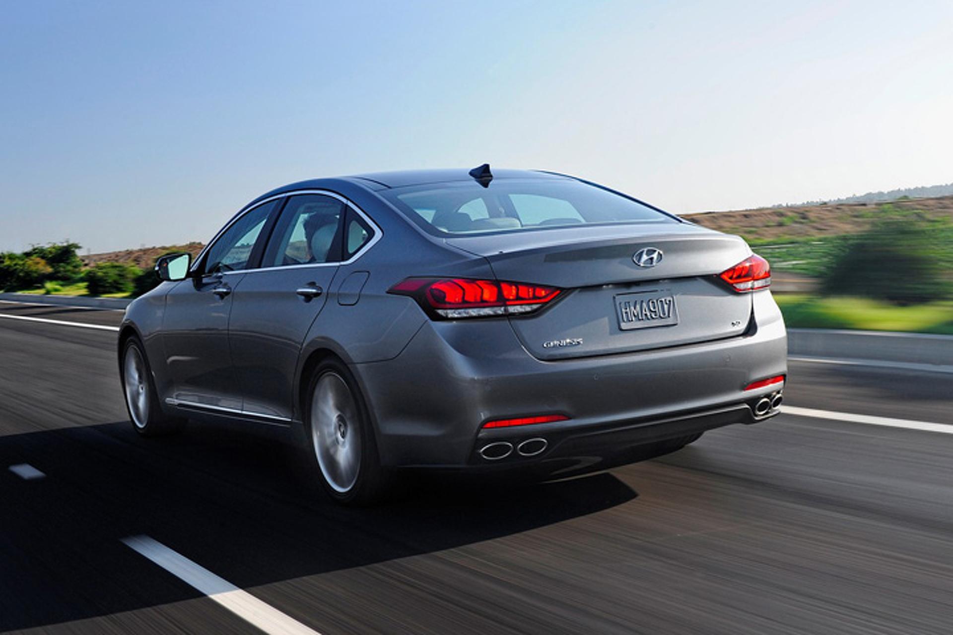 The 2015 Hyundai Genesis Anticipates and Slows for Speed Cameras