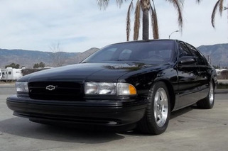 auction car of the week 1996 impala ss 7400 miles