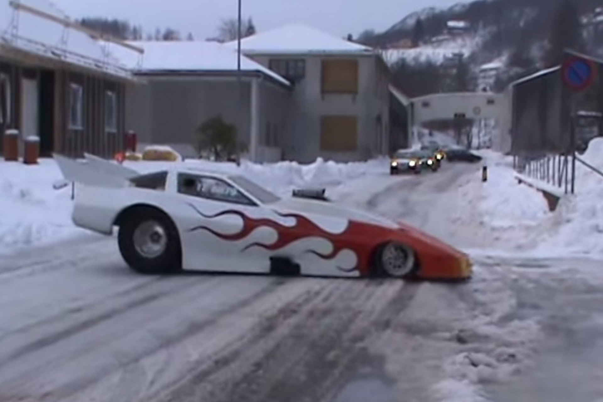 see why funny cars and snow do not go together motor1 com photos
