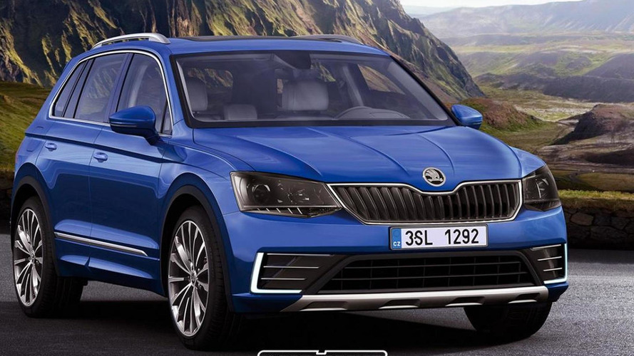 Second generation Skoda Yeti speculatively rendered