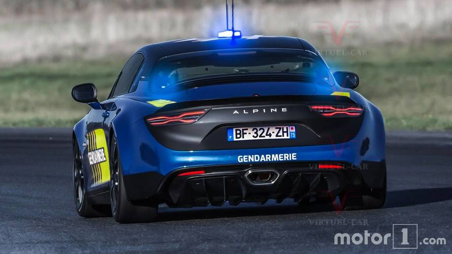 Alpine A110 Police Car Rendering