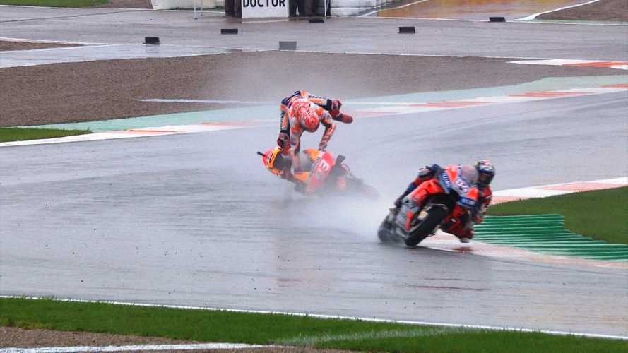 Marquez Crashes Twice at Valencia, Still Wins Championship