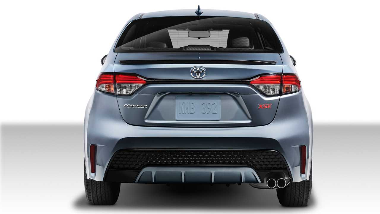 Toyota Corolla 2020 in the back