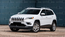 2018 Jeep Cherokee facelift render