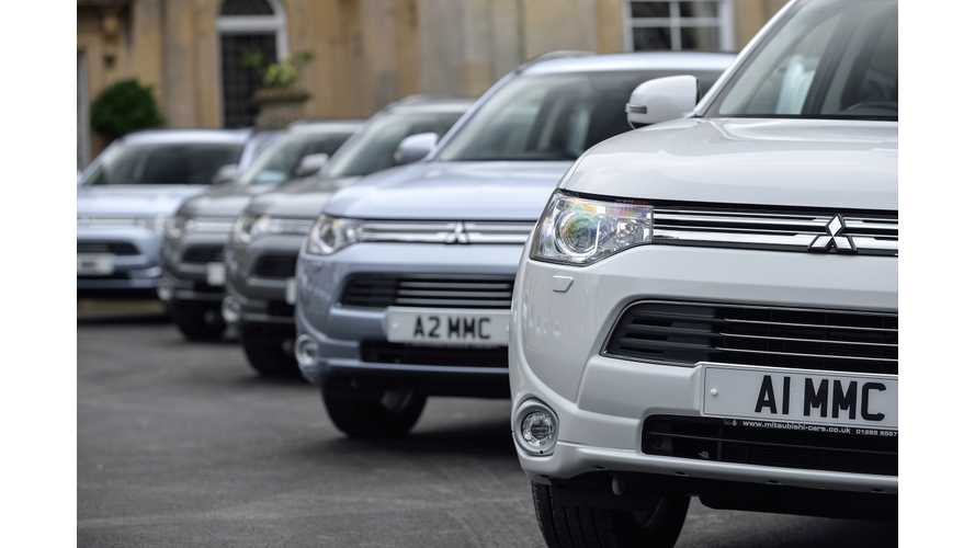 Mitsubishi Outlander PHEV Becomes Europe's Best Selling Plug-In Vehicle