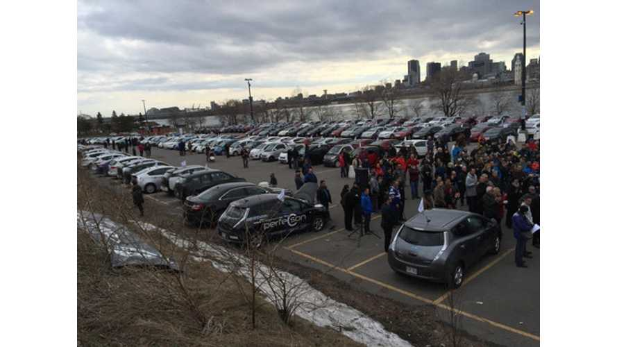 Quebec Sets Guinness World Record For Largest Electric Car Parade
