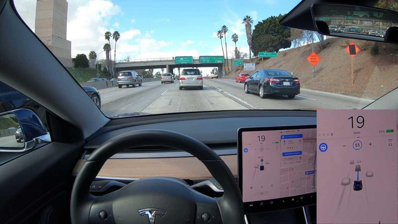 Testing Tesla Model 3 Navigate On Autopilot In Heavy LA ...