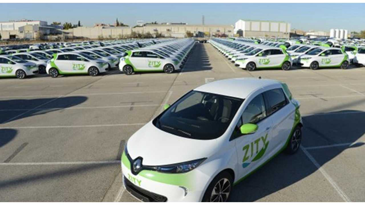 Renault Expands ZOE Fleet In Zity Car Sharing In Spain