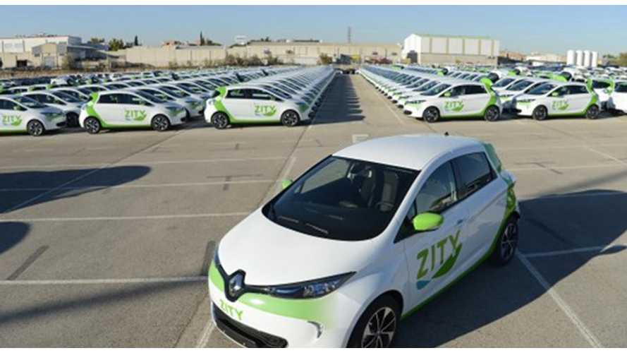 Renault Expands ZOE Fleet In Zity Car Sharing In Spain
