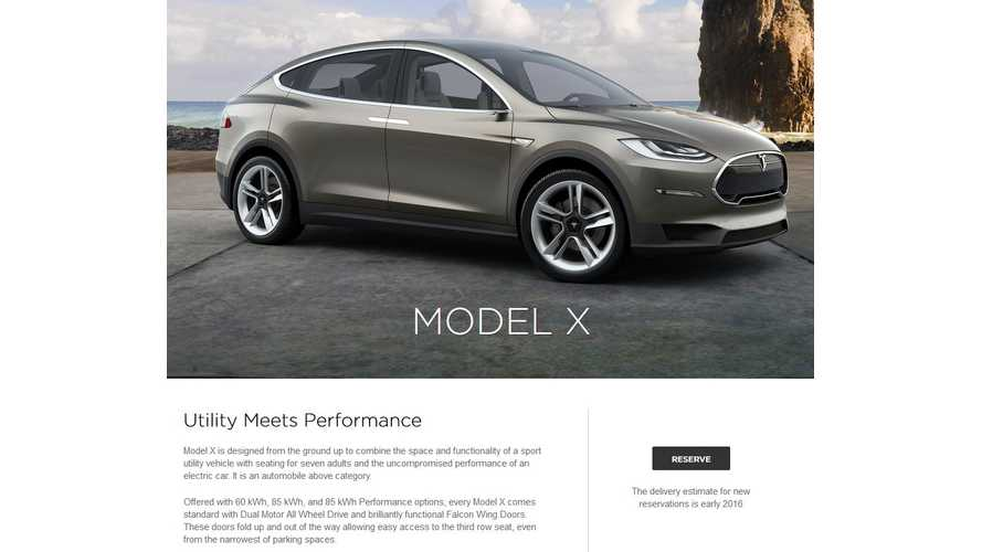 Confirmed: Tesla Model X Offered In 60 kWh, 85 kWh & Performance - AWD Standard