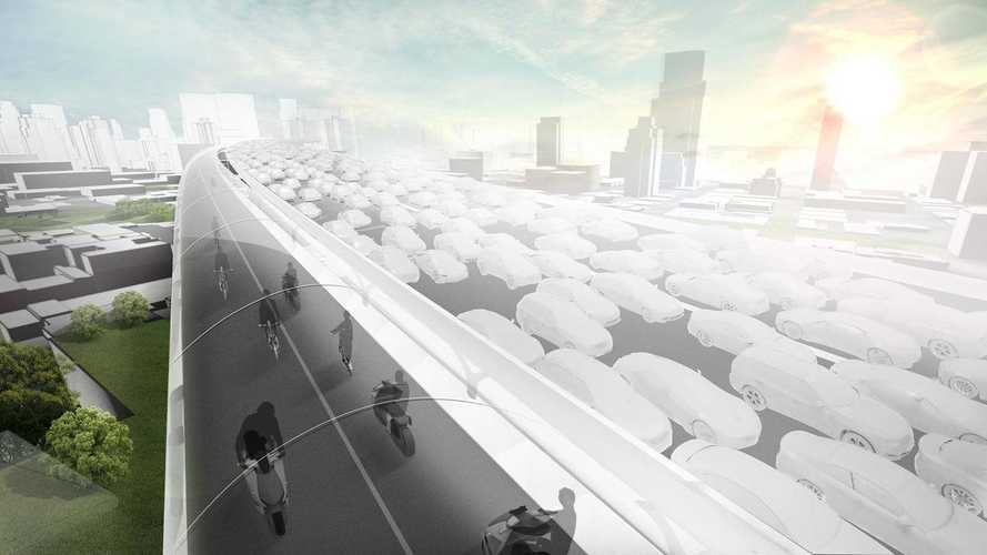 BMW Oddly Envisions Elevated EV-Only Road?!?