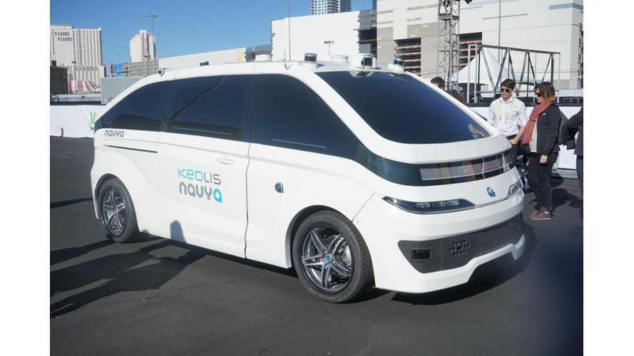 Navya Demonstrates Autonom Cab Robo-Taxi At CES