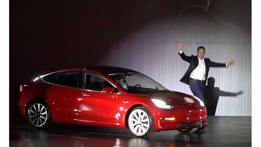Tesla Predicted To Deliver 3,005 Model 3 Vehicles In 2017