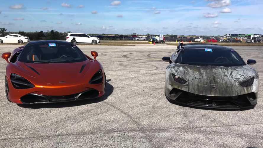 Supercharged Lamborghini Huracan tries to beat stock McLaren 720S