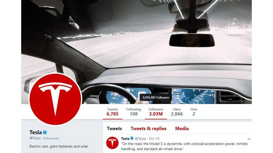 Tesla Passes Mercedes To Become Most Followed Car Brand On Twitter